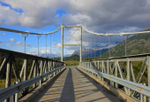 "Постер, картина, фотообои ""Bridge to Villa O Higgins, Carretera Austral, Patagonia, Chile"""