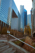 Modern buildings, vertical shot
