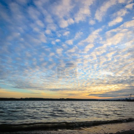 Photo for Blue lake with cloudy sky, nature series - Royalty Free Image