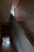 Stairs at S21 Tuol Sleng in Phnom Penh capital of Cambodia