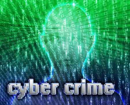 Photo for Cyber crime online fraud identity theft illustration - Royalty Free Image