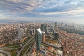 panoramic view at architecture of Istanbul city , Turkey