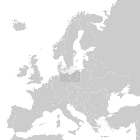 europa - politische karte von europa
