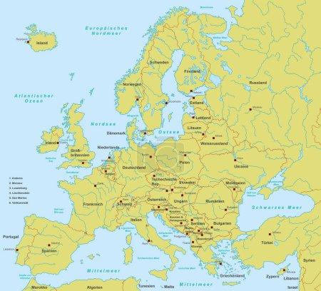 Europakarte, detailliert (detaillierte Vektordatei))