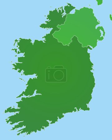 Map of Ireland (detailed vector file)