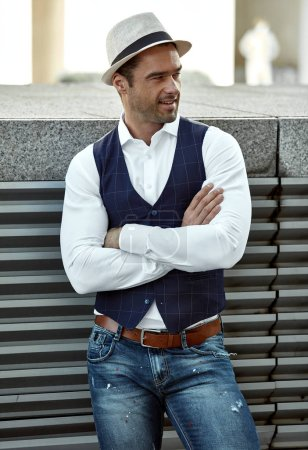 Photo for Handsome man in daily casual outfit - Royalty Free Image