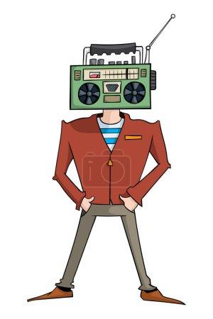 cartoon character of radiohead man