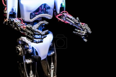 Photo for Close up view view of robots body and hands - Royalty Free Image