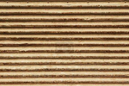 Photo pour Ancienne texture de métal ondulé - image libre de droit