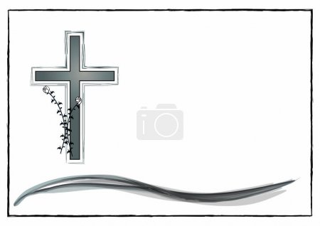 Illustration for Layout for a mourning display in vectors - Royalty Free Image