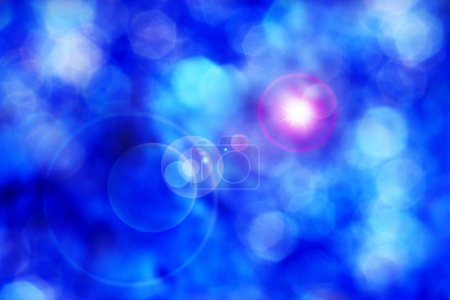 Photo for Abstract blue lights background - Royalty Free Image