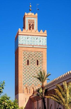 Photo pour Tour de la Mosquée à Marrakech kasbah, Maroc - image libre de droit