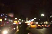 blurred vierw of city at night