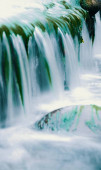 beautiful waterfall in the water.