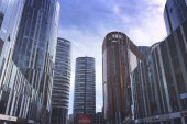 Scenic view of urban cityscape with skyscrapers