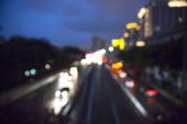 blurred traffic bokeh background