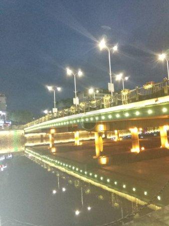 Photo pour Vue nocturne de la ville de Stockholm en Suède - image libre de droit