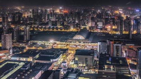 Photo pour Vue aérienne de la ville de tokyo la nuit - image libre de droit