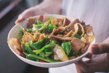 Photo pour Vue de près des délicieux aliments frits - image libre de droit