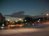 blurred view on city, defocused