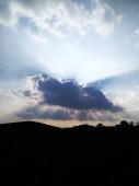 """Постер, картина, фотообои """"красивый закат над горой"""""""