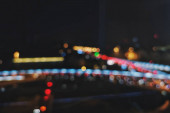 blurred night city lights, glowing