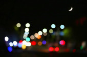 abstract bokeh background of city lights