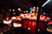 blurred of night city at twilight