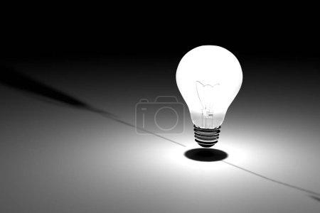 Photo pour Ampoules d'éclairage incandescents sur fond foncé - image libre de droit