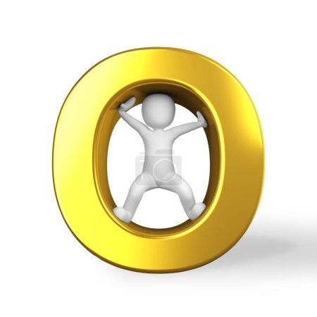 la lettre d'or O