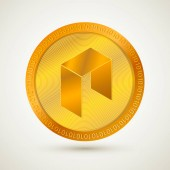 Realistic gold NEO  icon Cryptocurrency  Digital currency Virtual money Golden coins Blockchain technology Easy to use vector element of design for websites social media apps etc