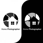 This logo has a camera lens with a house in it This logo is good to use as a company logo photo studio and business engaged in photography Or it can also be used as an application logo and various other businesses as needed