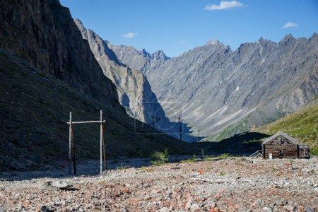 Abandoned Uranium mine in Marble ValleyStalins Gulag camp (Borlug) in Kodar ridge