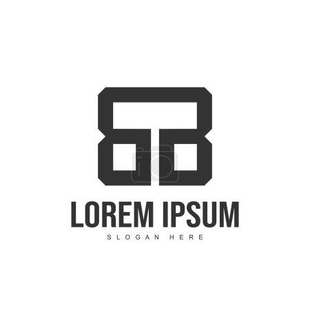 Diseño del logotipo de BB Letter. Diseño inicial de la plantilla de logotipo de letra