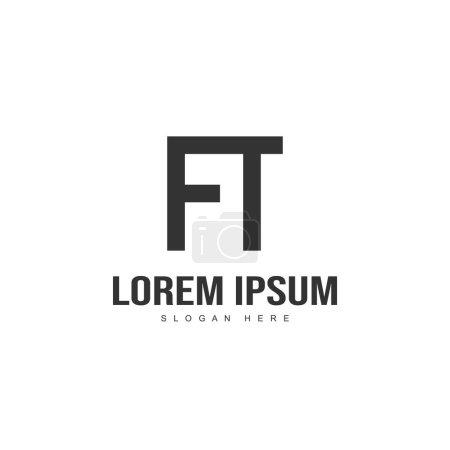 Illustration pour Lettre initiale logo design. modèle de logo lettre minimale - image libre de droit