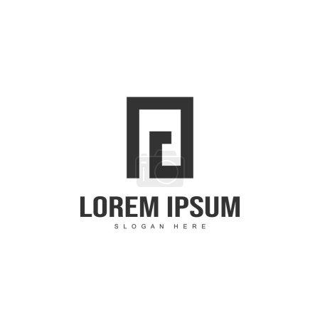 Diseño inicial del logotipo de la letra. Diseño de plantilla de logotipo de letra mínima