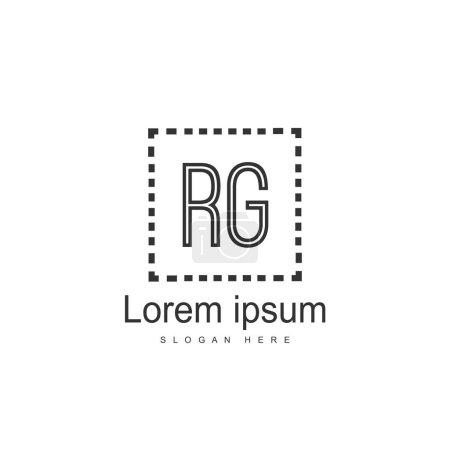 Diseño de plantilla de logotipo RG. Diseño inicial de la plantilla de logotipo de letra