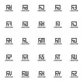 Set of letter logo template Minimal letter logo template design