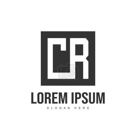 Plantilla inicial del logotipo de la letra. Diseño de plantilla de logotipo de letra minimalista