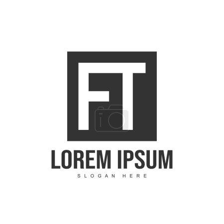 Illustration pour Modèle initial de logo de lettre. Modèle de lettre minimaliste logo design - image libre de droit
