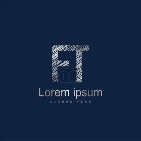 Illustration pour Modèle de logo FT Lettre initiale Conception vectorielle - image libre de droit