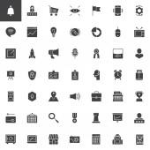 Digital marketing vector icons set
