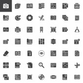 Editorial elements vector icons set