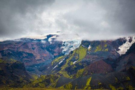 Beautiful Mountain Panorama in National Park Thors...