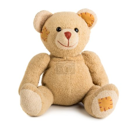 Photo for Toy teddy bear isolated on white background - Royalty Free Image