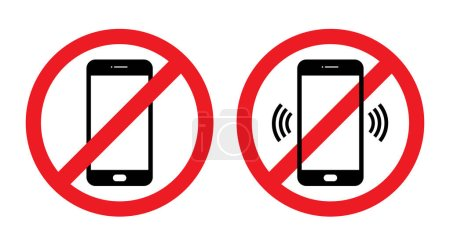 Illustration for Sign off the phone, and whether the sound - vector - Royalty Free Image