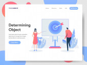 Landing page template of Determining Object Illustration Concept
