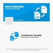 Blue Business Logo Template for sharing share file document copying Facebook Timeline Banner Design vector web banner background illustration