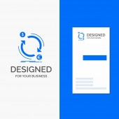 Business Logo for exchange currency finance money convert Vertical Blue Business / Visiting Card template