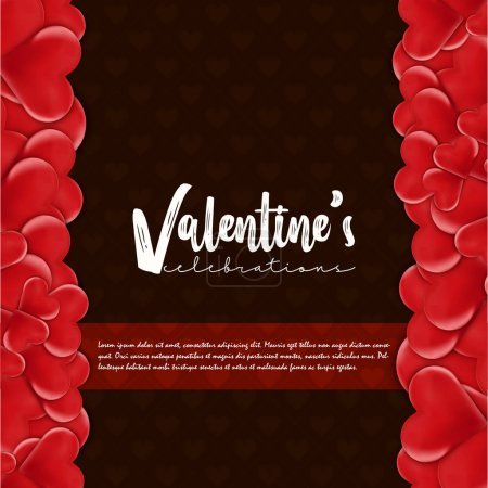 Valentine Abstract Background vector illustration